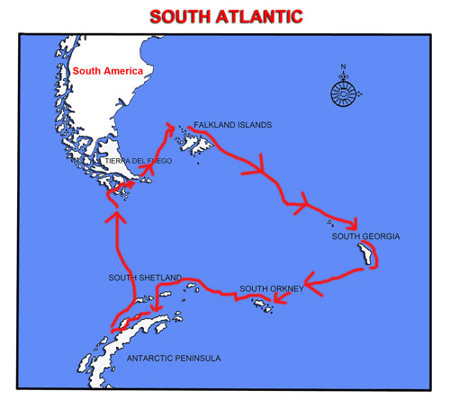 South Atlantic Map