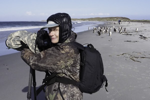 Mary Photgraphing-Falklands